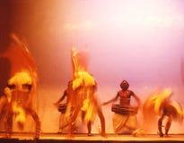 10个锡兰舞蹈演员 库存照片