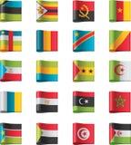 10个非洲标志分开向量 库存例证