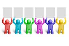 10个颜色演示 向量例证