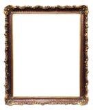 10件古董被雕刻的框架没有 免版税库存照片