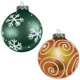 10件圣诞节装饰品卷 库存照片