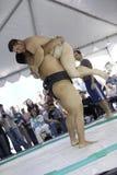 10位sumo摔跤手 库存图片