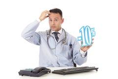 10关心健康销售额 图库摄影