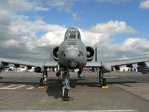 A-10军事喷气式歼击机 库存照片