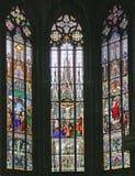 10块玻璃被弄脏的视窗 免版税图库摄影