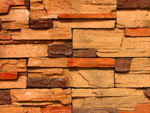 10块砖模式石墙 库存图片
