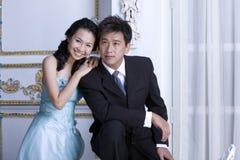 10对夫妇最近婚姻 库存照片