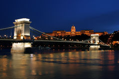 10布达佩斯光晚上 库存图片