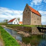 10座城堡glimmingehus全景 库存照片