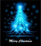 10抽象圣诞节eps现代结构树 库存图片
