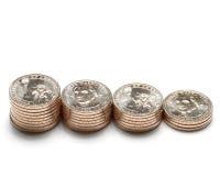 10枚硬币美元乔治・华盛顿 库存照片