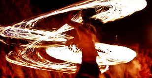 10火显示 免版税图库摄影