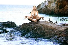 10瑜伽 免版税库存照片