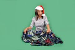 10美丽的辅助工s圣诞老人 免版税图库摄影