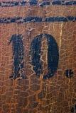 10脏的编号 免版税库存照片