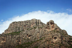 10蒙特塞拉特岛山 库存图片
