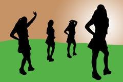 10说明的妇女 免版税库存图片