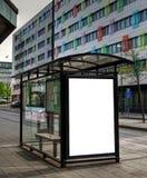 10辆公共汽车hdr终止 免版税库存照片