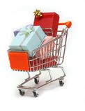 10辆购物车购物 免版税库存图片