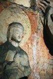 10雕刻的石yungang 免版税库存照片