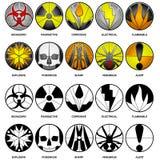 10 ícones do perigo do vetor Imagem de Stock Royalty Free