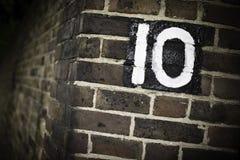 10 αριθμός Στοκ Εικόνες