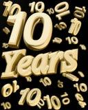 10 χρυσά έτη επετείου Στοκ Εικόνες