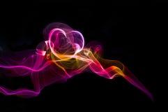 10 χρωματισμένος καπνός Στοκ Εικόνα