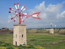 10 ветрянок majorca Стоковое Изображение RF