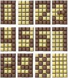 10 всех чисел цвета шоколада производят 2 Стоковая Фотография