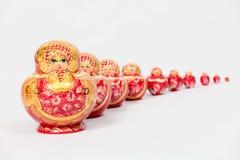 10 гнездят кукол, котор Стоковое Фото