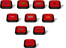 10 клавиш на клавиатуре 3d Стоковые Фотографии RF