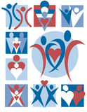 10 людей логосов собрания Стоковое Фото