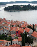 10 над взглядом города старым Стоковое Изображение