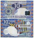 10 Нидерланды 1997 гульденов устарелые Стоковые Фото