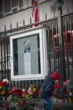 10-ое апреля цветет kyiv оплакивая Украину Стоковое фото RF