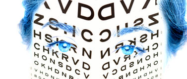 10 отсутствующих футов глаз испытывают ваше Стоковые Фото