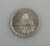 10 пенни Falkland или острова Malvinas. Стоковое Изображение RF