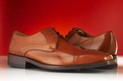 10 роскошных ботинок человека Стоковое фото RF