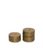 10 рублевок монеток Стоковая Фотография