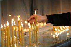 10 свечек ново Стоковое Изображение