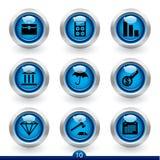 10 серий иконы финансов иллюстрация вектора