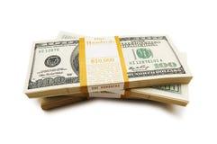 10 тысяч стога доллара Стоковые Изображения