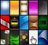 10 установленных визитных карточек Стоковая Фотография RF