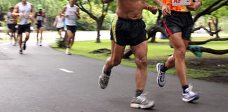 10 часов марафона ультра Стоковые Фото