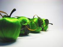 10 яблоко - зеленая сатинировка Стоковые Изображения