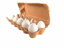10 яичек коробки Стоковые Фото