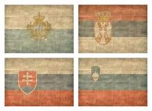10 13 landseuropeanflaggor Arkivbild