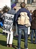 10 15 2011年柏林占用拒付 库存照片