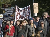 10 15 2011 berlin занимают протест Стоковая Фотография RF